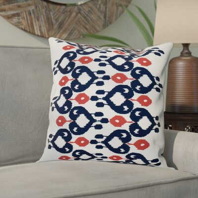Oliver Boho Chic Geometric Outdoor Throw Pillow Size: 18 H x 18 W, Color: Navy Blue