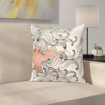 Modern Tentacle Mandala Pillow Cover Size: 16 x 16