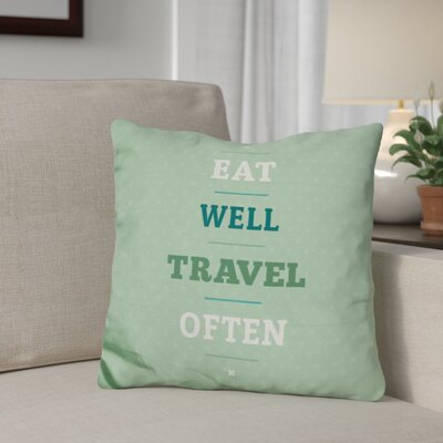 Genthner Eat Travel Throw Pillow