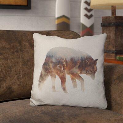 Lemanski Coyote in the Fog Throw Pillow