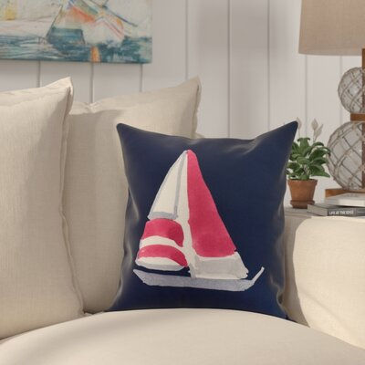 Harriet Sail Away Throw Pillow Color: Navy, Size: 16 x 16