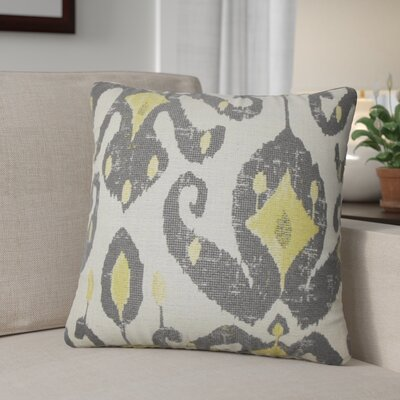 Tashani Ikat Throw Pillow Color: Peridot