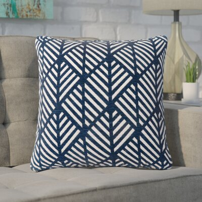 Darren Geometric Design Square Throw Pillow Color: Dark Blue