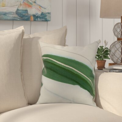 Crider Boat Bow Wood Print Indoor/Outdoor Throw Pillow Color: Green, Size: 20 x 20