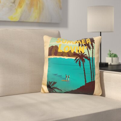 Summer Loving Throw Pillow