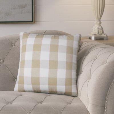 Berkeley Plaid Cotton Throw Pillow Color: Khaki