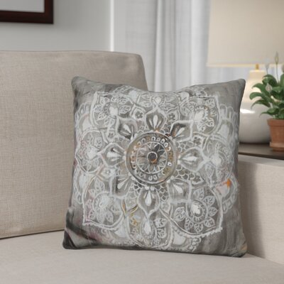 Ginsburg Mandala in Neutral Throw Pillow