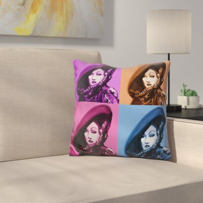 Marlene Dietrich Throw Pillow