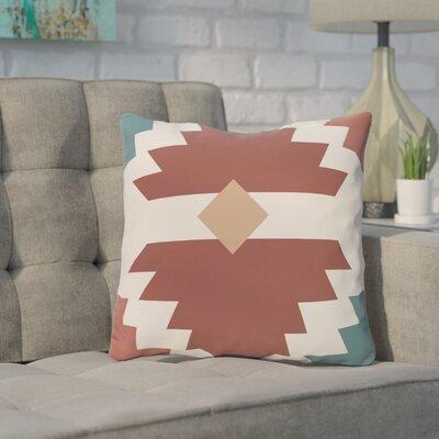 Cleon Outdoor Throw Pillow Color: Orange