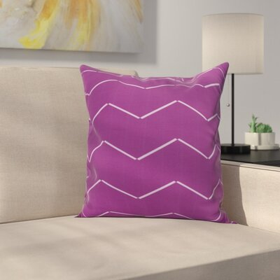 Meehan Stripe Geometric Print Indoor/Outdoor Throw Pillow Color: Purple, Size: 18 x 18