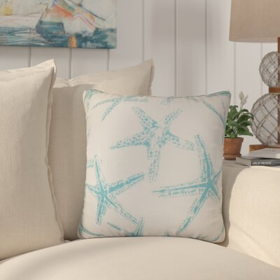 Begonia Coastal Cotton Throw Pillow Color: Blue