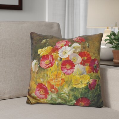 Gittens Poppies in The Field Throw Pillow