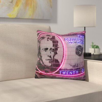 Dollars Throw Pillow