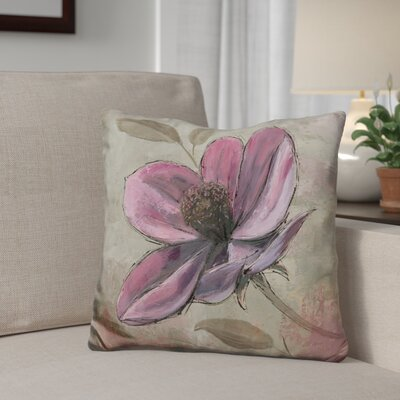 Gassett Plum Floral Throw Pillow