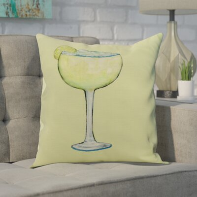 Crosswhite Margarita Plain Print Indoor/Outdoor Throw Pillow Color: Light Green, Size: 16 x 16