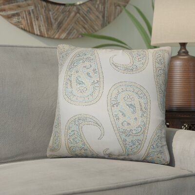 Southstoke Paisley Throw Pillow Color: Blue