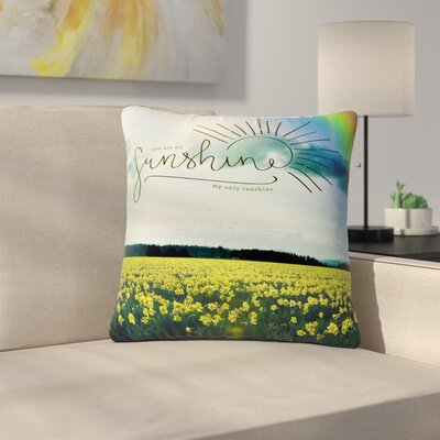 Robin Dickinson You are My Sunshine Outdoor Throw Pillow Size: 16 H x 16 W x 5 D