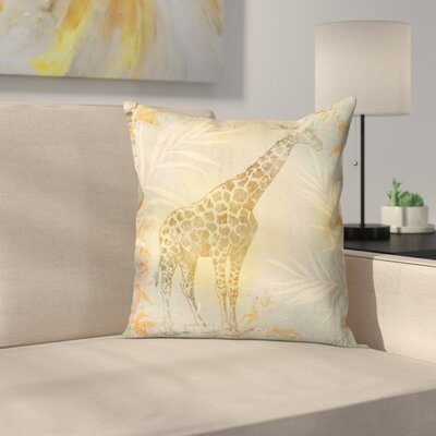 Vintage Animal Color 2 Throw Pillow Size: 14 x 14