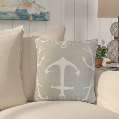 Akole Coastal Cotton Throw Pillow Color: Gray