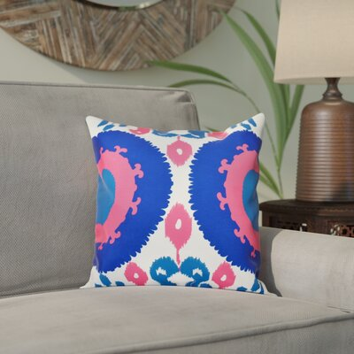 Meetinghouse Boho Geometric Print Throw Pillow Size: 16 H x 16 W, Color: Blue