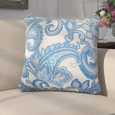 Grisella Floral Cotton Throw Pillow Color: Blue