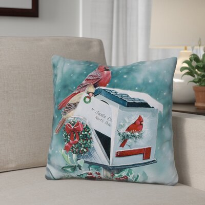Berkey Christmas Cardinals Throw Pillow