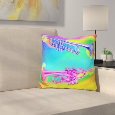Trumpets Throw Pillow
