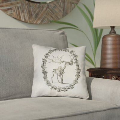 Brie Vintage Elk Skeleton Double Sided Print Throw Pillow