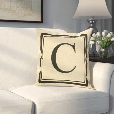Beaver Creek Monogram Throw Pillow Letter: C