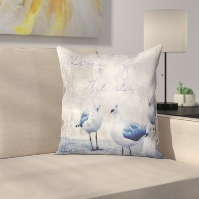The Sound of the Ocean Throw Pillow Size: 18 x 18