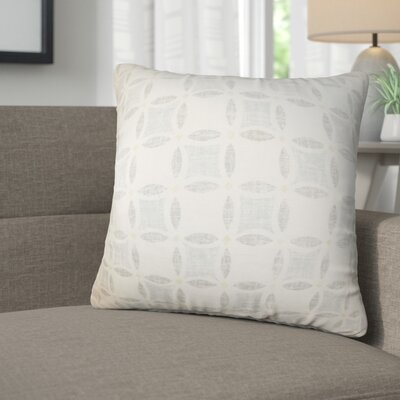 Demi Geometric Linen Throw Pillow Color: Gray