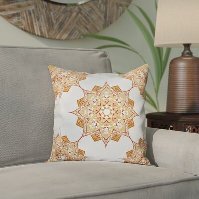 Oliver Rhapsody Geometric Print Throw Pillow Size: 16 H x 16 W, Color: Gold