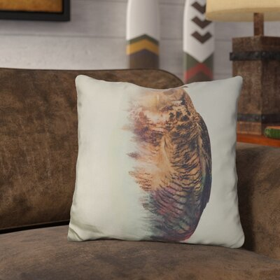 Leonidas the Owl Norwegian Woods Throw Pillow