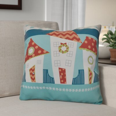 Decorative Christmas Print Outdoor Throw Pillow Size: 20 H x 20 W, Color: Coral