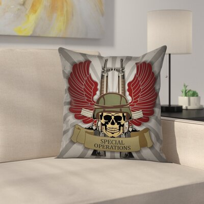Skull Pillow Cover Size: 16 x 16