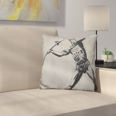 Graf Javelin Thrower Throw Pillow