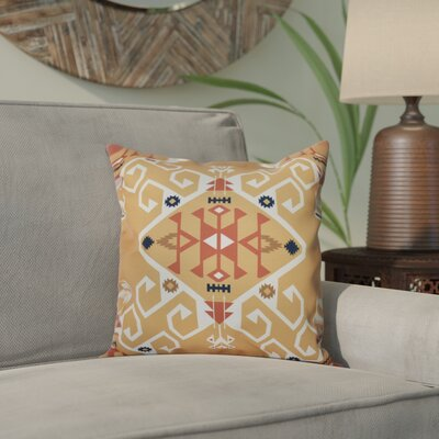 Oliver Jodhpur Medallion Geometric Print Throw Pillow Size: 26 H x 26 W, Color: Gold