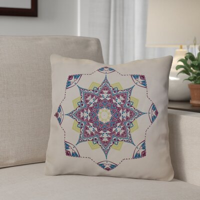 Aneesh Outdoor Throw Pillow Size: 18 H x 18 W, Color: Purple