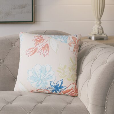 Goodrich Floral Down Filled 100% Cotton Throw Pillow Size: 18 x 18, Color: Blush