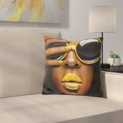 Goldilips Throw Pillow
