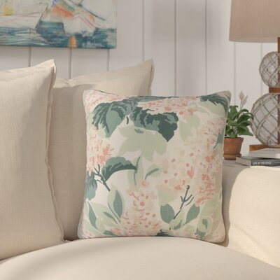 Zolt�n Floral Cotton Throw Pillow Color: Oyster