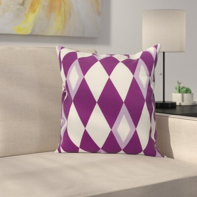 Meehan Geometric Print Indoor/Outdoor Throw Pillow Color: Purple, Size: 16 x 16