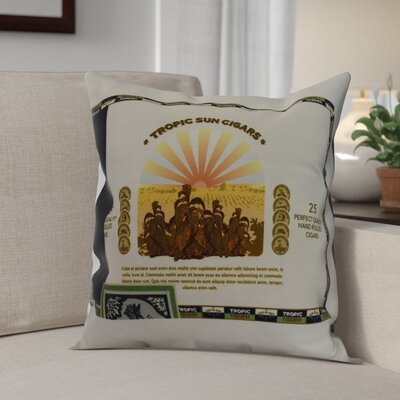 Warriner Cigar Box Front Geometric Print Indoor/Outdoor Throw Pillow Color: Green, Size: 16