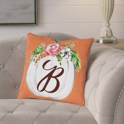 Pruneda Fall Pumpkin Personalized Throw Pillow Size: 16 x 16