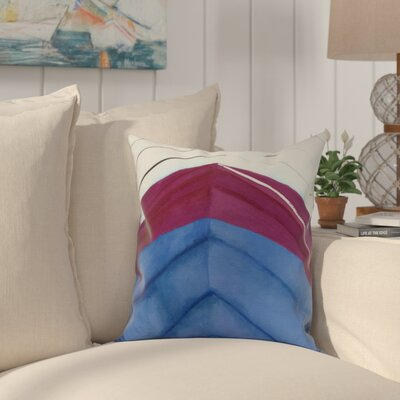 Crider Boat Bow Center Print Indoor/Outdoor Throw Pillow Color: Royal Blue, Size: 18 x 18