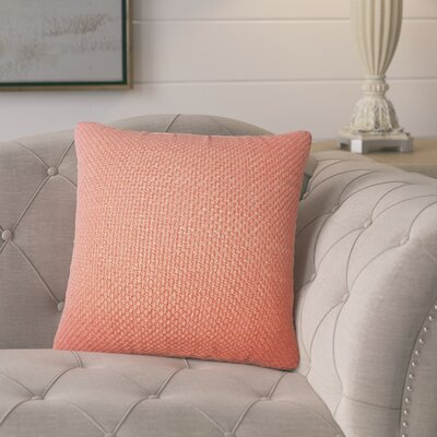 Nik Solid Down Filled Throw Pillow Size: 18 x 18, Color: Cinnamon