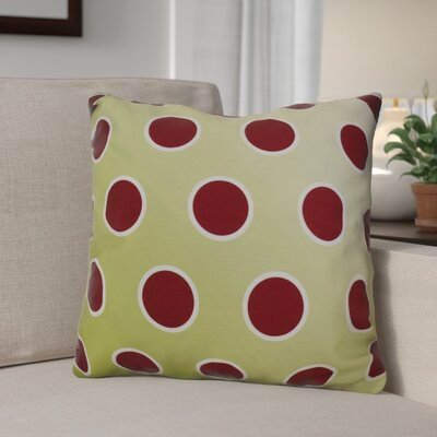 Holiday Bubbly Decorative Outdoor Throw Pillow Size: 18 H x 18 W, Color: Light Green