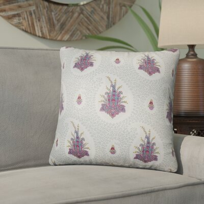 Armidale Floral Cotton Throw Pillow Color: Pink