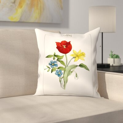 Fruhling Throw Pillow Size: 18 x 18