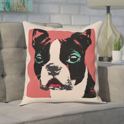 Clairevale Doggy Warhol Throw Pillow